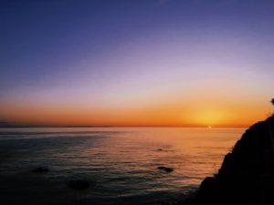 南越前町の釣り場、甲楽城(かぶらき)の夕日